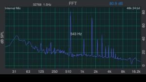 Main 543 Hz.